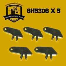8H5306 Master Disconnect & Old Igniton Keys Fits Caterpillar - SET x 5