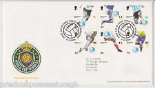 BALLS PK PMK GB ROYAL MAIL FDC FIRST DAY COVER 2006 WORLD CUP WINNERS STAMP SET