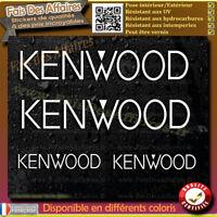 4 Stickers Autocollant kenwood sponsor lot planche sticker car audio sono tuning