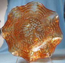 Carnival Glass GRAPE by Imperial ... Rich Pumpkin Merigold Color Ruffled