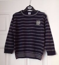 Boys navy blue jumper 100% cotton age 5 yrs