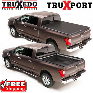 TruXedo TruXport Roll Up Bed Cover for 16-21 Nissan Titan XD 6.5' w/ Utili-Track
