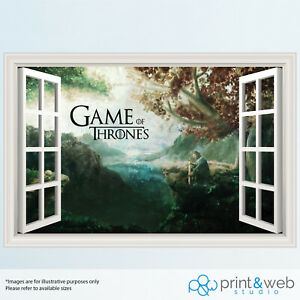 Game of Thrones 3D Window View Decal Wall Sticker Home Decor Paint Style Mural