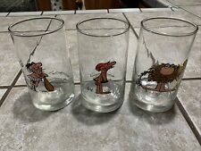 Arbys 1981 B.C. Ice Age Collector Series Field Enterprise Glass Lot Of 3