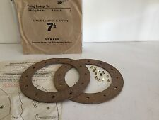 Hillman Minx, 10hp, 1932-1939, Pair of Clutch Linings & Rivets, NOS.