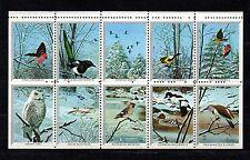 USA 10 Cinderell stamps, Birds