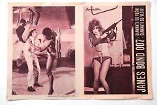 JAMES BOND 007 CONNERY HAMILTON 1971 EXYUGO MOVIE PROGRAM  DIAMONDS ARE FOREVER