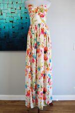 New $235 AMANDA UPRICHARD Posy Strapless Maxi Dress Gown Sz P (XS) Formal Prom