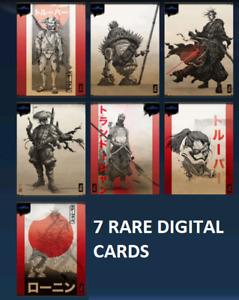 Topps Star Wars Card Trader VISIONS SET FULL 7 RARE CARDS SCROLLS