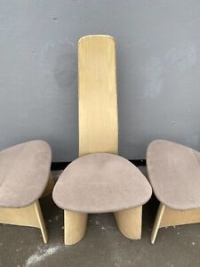Retro Style G-Plan Curved Back Dining Chairs x 4