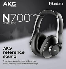 New AKG N700NC M2 Noise Cancelling Wireless Headphones, Black Rechargeable NCM2