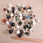 Sweet Lot Antique Buttons Metal Shank Charmstring Diminutive Czech Molded Vtg
