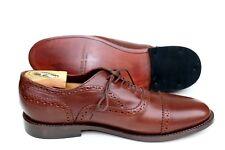 NWOB John Doe Shoes Goodyear Brown Leather Cap Toe Oxford Dress Shoe SZ 10.5