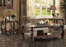 NEW 3PC CRANSTON TRADITIONAL CHERRY OAK FINISH WOOD COFFEE END TABLE SET