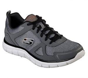 Skechers Track-scloric, Scarpe da Ginnastica Basse da uomo Grey with memory foam