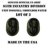 LOT OF 2 US MILITARY PATCH PATCHES 95TH INF TRAINING DIVISION ARMY UNIFORM BDU