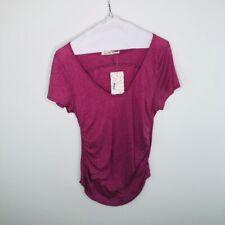 Free People $48 Women's Sonnet Tee Size L OB1061340 Pink