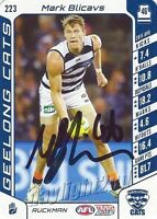 ✺Signed✺ 2016 GEELONG CATS AFL Card MARK BLICAVS