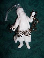 Hallmark Keepsake Ornament St Nick white porcelain china Santa NEW boxed