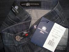 NWT ROCK & REPUBLIC CRAZY B !@#H Skinny Jeans Made in USA Sz 24