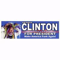 CS224 - George Clinton for President ANti Donald Trump Sticker