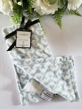 "Threshold Printed Cotton Hand Towel 27"" x 16"" Light Blue With White Motif"