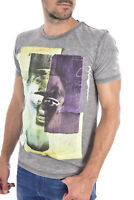 Pepe Jeans Tee-shirt Gris Pm503230 Sérigraphie