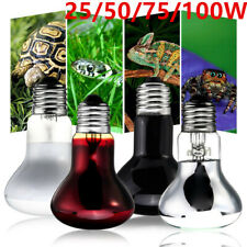25/50/75/100W UVA Basking Heat Lamp Day Night Lamp Turtle Snake Reptile Bulb US