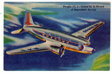 1950s Eastern Airlines Douglas DC-3 Great Silver Fleet Postcard