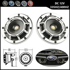 Chrome Electric Compact Car Horn Super Loud Blast Tone Grill-Mount 335HZ/400HZ