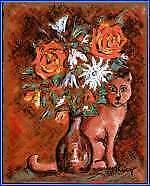 Peintures du XXe siècle et contemporaines animaux sur panneau