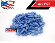 200pcs 16-14 Gauge Insulated Female Spade Speaker Connectors Terminals Blue