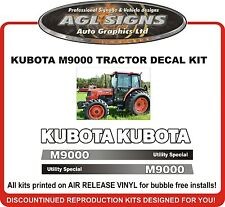 KUBOTA  M9000 Reproduction Tractor Decal Kit   also M9450