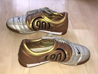 Nike Total 90 Iii Indoor Youth 5 Soccer Silver Gold Shoes Rare Non-marking