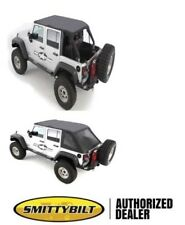 2007-18 soft top Jeep Wrangler UNLIMITED BLACK TINTed Bowless Combo top 9083235
