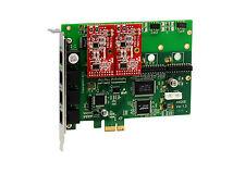 OpenVox A400E02 A400E 4 Port Analog PCI-E card + 0 FXS + 2 FXO, Ethernet (RJ45)