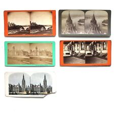 Vintage Lot Stereoscope Photo Cards Ottawa Ontario Canada Parliament Buildings