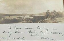Adirondack RPPC BLUE MOUNTAIN LAKE 1908 ANTIQUE POSTCARD