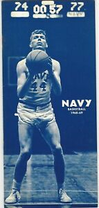 1968-1969 Navy (US Naval Academy) Vintage College Basketball Media Guide