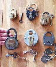Schlösser SET! 6 Vorhangschlösser original, voll funktionsfähig, orig. Schlüssel