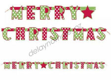 paper joint banner merry christmas cutout xmas party decoration polka dot 165m - Christmas Letter Decorations