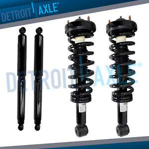 Front Struts w//Coil Spring Assembly Detroit Axle Replacement for Ford F-150 4WD Excludes Raptor 6pc Sway Bar Links /& Rear Shock Absorbers