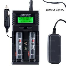 NKTECH H2 LCD Car/Wall Battery Charger For 18650 26650 10440 AA 6F22 AAA Li-ion