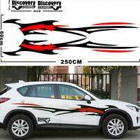 1 Pair Car Auto SUV Body Sides Stripe Decal Vinyl Sticker Sports Styling Decor