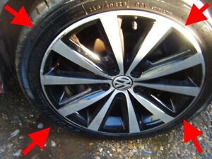 "2017 VW POLO SYENIT 16"" ALLOY WHEELS ALLOYS EXCELLENT TYRES ORIGINAL 6r 6c gti"