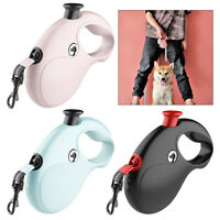 Dog Leash Retractable Reflective Walking Collar Training Lead Tangle Free