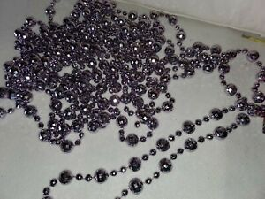 16 Foot Lengths of Decorative Light Violet Disco Beads (2)  Free Shipping