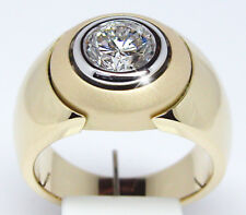 Fashion Men's Jewelry 14K Yellow Gold Plated White Sapphire Ring Wedding Sz 6-10