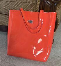 Cynthia Rowley Orange Patent Leather Large Tote NWOT