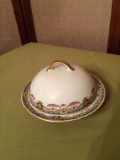 Rare Gold Trim Victoria China Czechoslovakia Butter Dish Crown Stamp